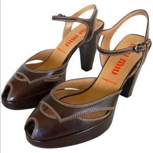 Miu Miu Peeptoe Platform heels!